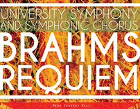 Brahms Requiem Event Poster