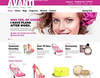 Avanti, Magento Pink Fashion Shoes Perfumes Store Theme