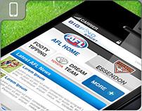 AFL Mobile Site Design