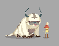 Avatar - Aang and Appa pixel animation