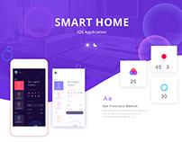 Smart home control app