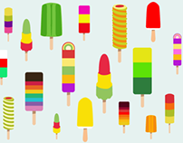 Ice Lollies Illustration