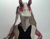 Restauración de personaje Jar Jar, Película Star Wars