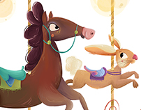 Farmyard animal Merry-go-round