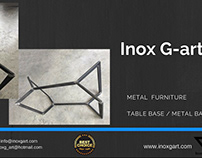 Attractive Metal Table Base Manufactured by Inox G- art