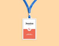 Free Name Tag Badge Mockup
