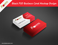 Black PSD Business Card Mockup Design