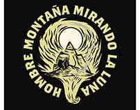 Hombre Montaña Mirando la Luna - Band Logo.