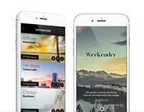 Weekender iOS App