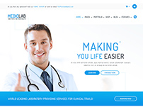 MedicLab - Health Care PSD Template