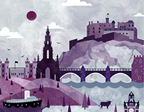 Edinburgh Travel Poster