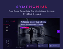 Symphonius — One Page Template
