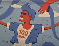 KLM 100 years mural