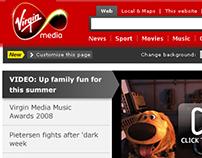 Virgin Media Homepage Re-design