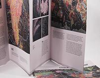 Brochure design about Paula Scher's map
