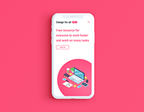 "Design for all ""mobile version"""