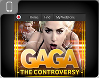 Vodafone mobile designs - Lady Gaga promotion