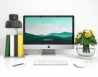 iMac – Free PSD Mockup