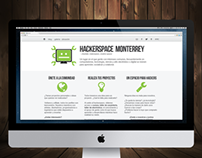 Hackerspace Monterrey website redesign proposal