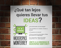 Advertising for Hackerspace Monterrey's events