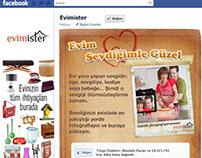 Evimister - Facebook App Design