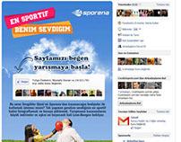 Sporena - Facebook App Design