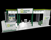 EGYPTIAN STEEL BOOTH
