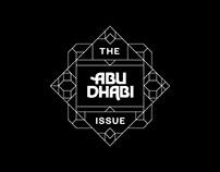 Abu Dhabi custom font