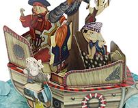 Pirat Ship 3D card
