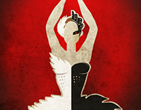 Minimal Black Swan Poster