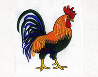 COLORFUL AND VIBRANT ROOSTER EMBROIDERY DESIGN
