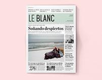 LE BLANC  |  Periódico, newspaper