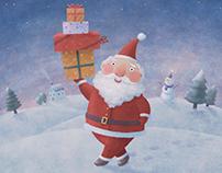 Santa claus gif animation