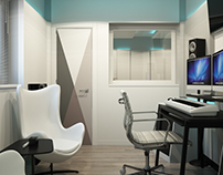 Interior design of the recording studio in Miami