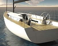 Barca a vela 50 pd (Design, 3d Modeling, Rendering)