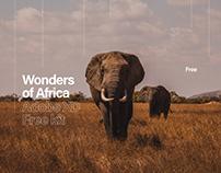 Africa Travel Co. - UI Kit Free for Adobe XD