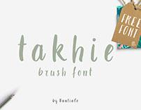 Takhie, Free Brush Font
