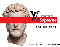 Louis VuittonxSupreme Mock Pop Up Shop