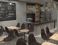 06/2015 Interior Design Coffee Shop and Vray 3D Model