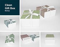 Clean Gift Box Mockup