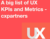 UX KPIs + Metrics from cxpartners