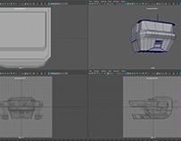 Maya space ship 3D model