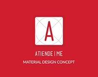 ReDesign AtiendeMe App - Android Material Design