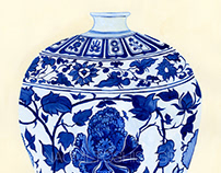 8_Vase/ 壺 (14c the Yuan dynasty 元)
