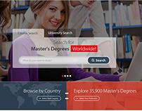 Website design for university finder