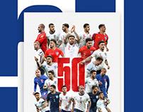 Kyle Walker 50 caps for England