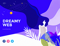 Dreamy Web Illustration