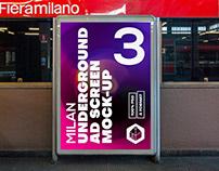Milan Underground Ad Screen Mock-Ups 1