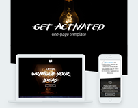 """""""Get Activated"""" One page template"""