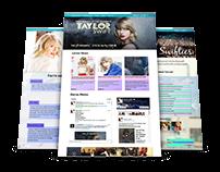 Taylor Swift Fansite (Web Design)